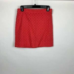 J. Crew Eyelet Mini Skirt